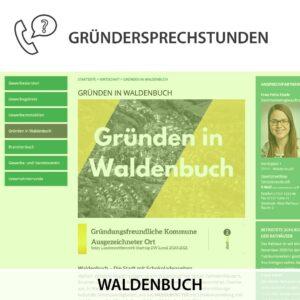 Gründen in Waldenbuch, Kostenlose Gründersprechstunde