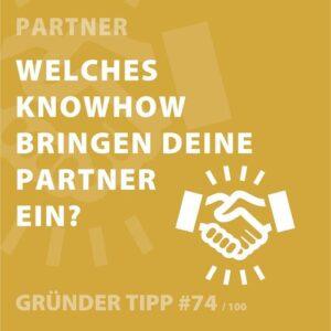 Gründertipps: Partner Know How