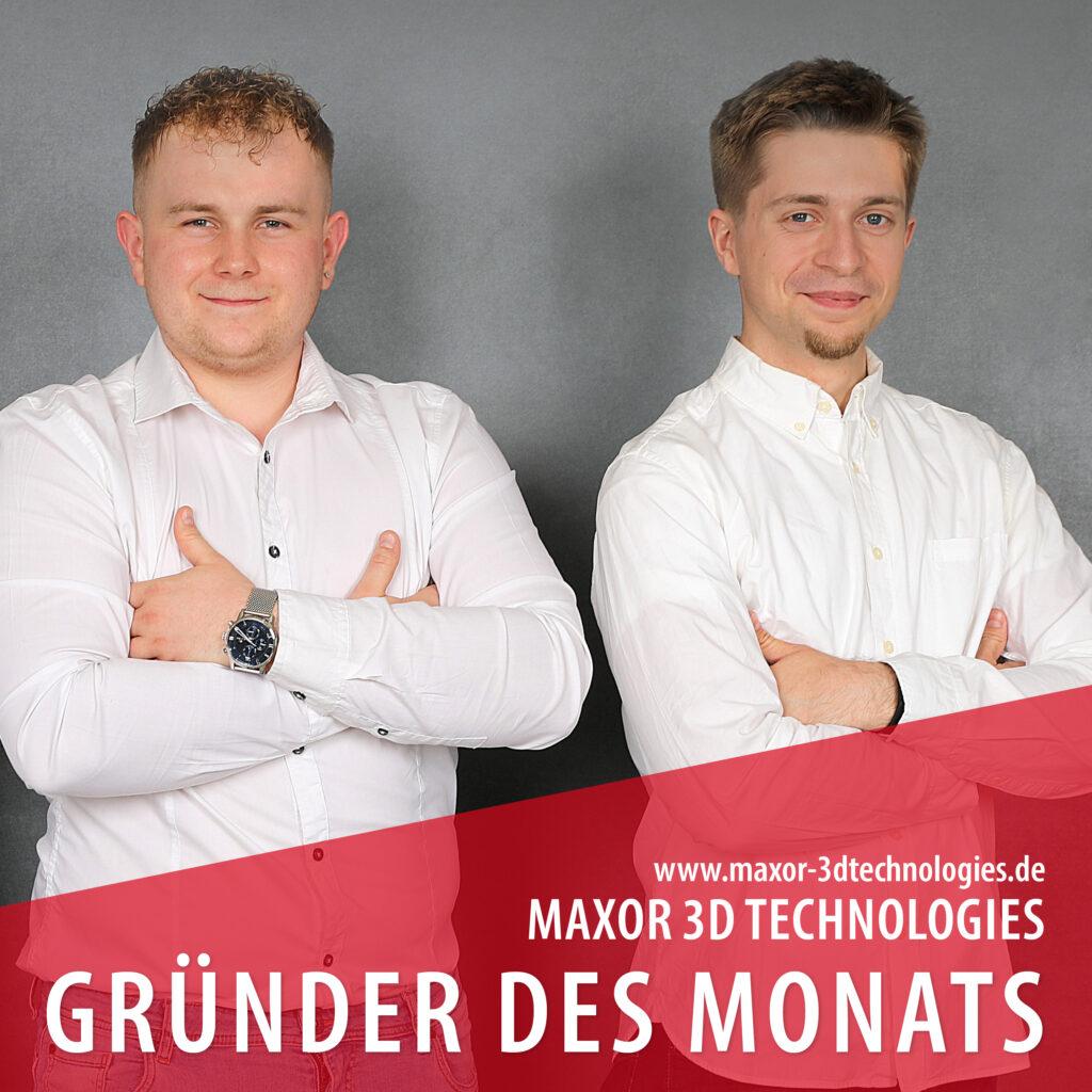 Maxor 3D Technologies UG | Gründer des Monats August Magstadt