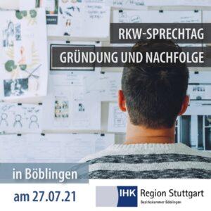 """RKW Sprechtag """"Gründung und Nachfolge"""" IHK Böblingen"""
