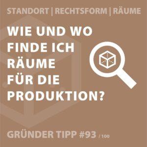 Gründertipp Produktionsräume