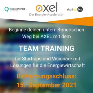 AXEL Energie Accelerator - Team Training