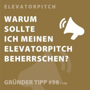 Gründertipp Elevator Pitch